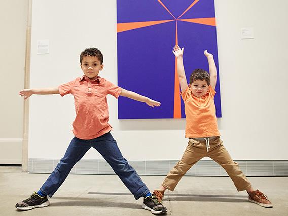 Children in the galleries