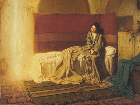 Detail of The Annunciation, 1898, by Henry Ossawa Tanner, W1899-1-1