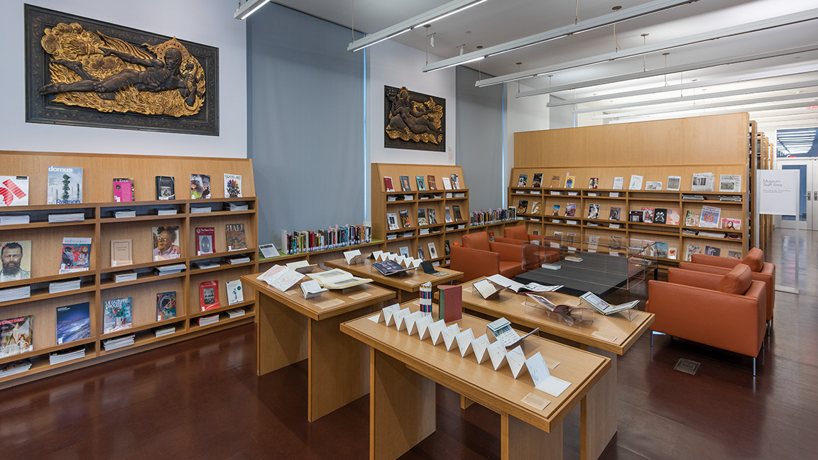 Interior view of the museum library