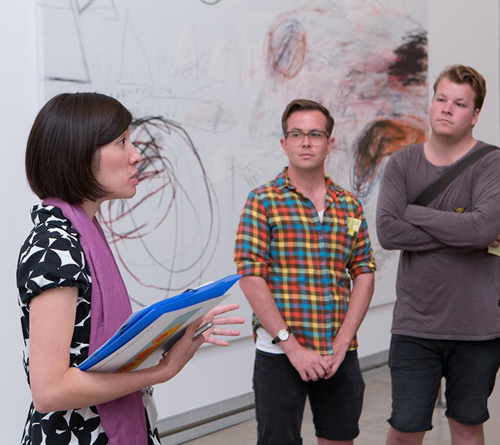 Museum interns on a tour of the galleries