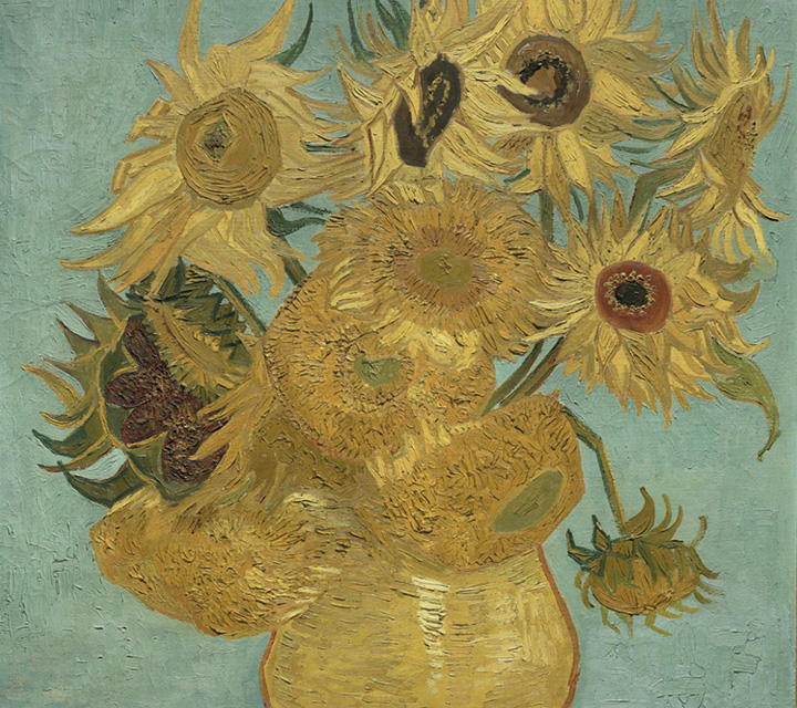 Detail of Sunflowers, 1889, by Vincent van Gogh, 1963-116-19