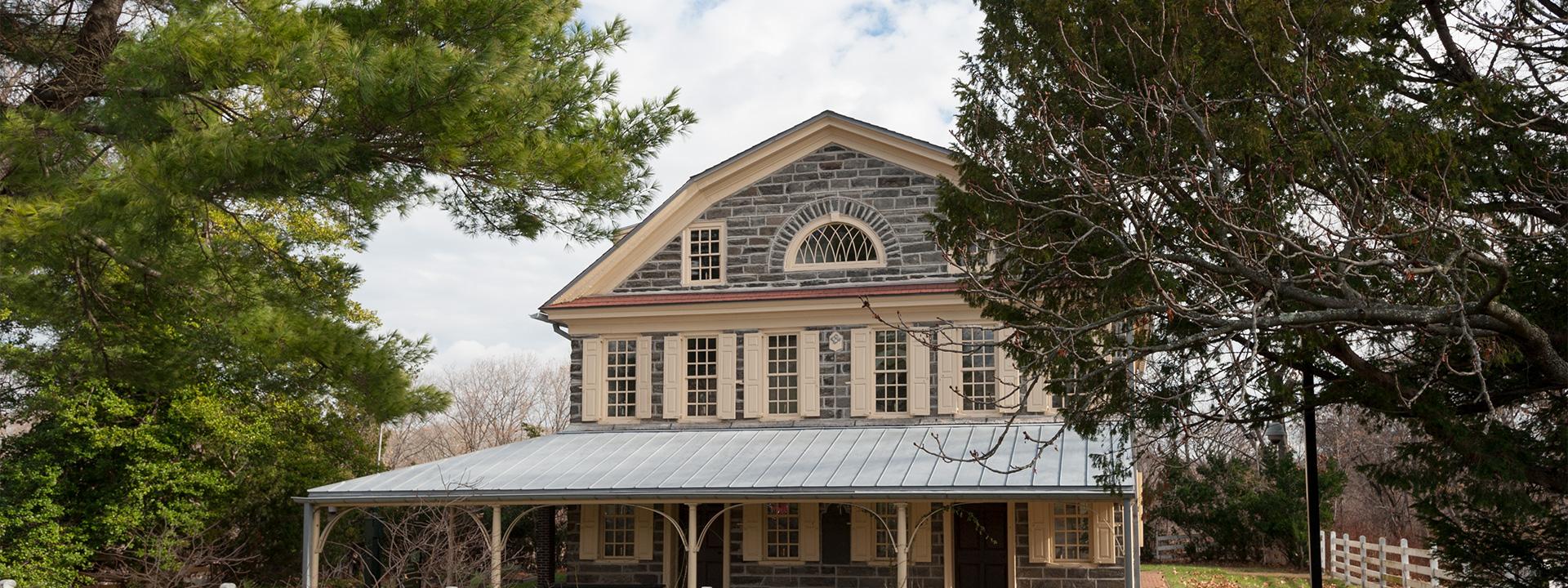 Exterior view of Cedar Grove historic house