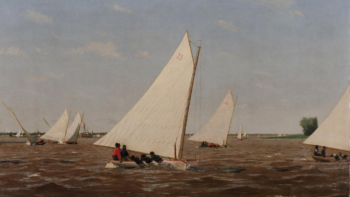 Sailboats Racing on the Delaware, 1876, by Thomas Eakins, 1929-184-28