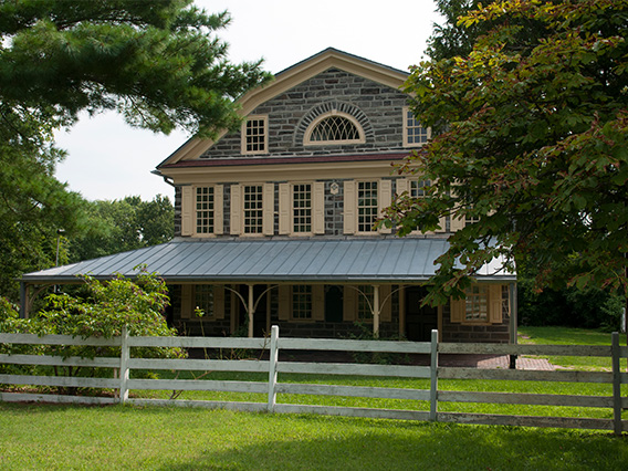 Exterior view of Cedar Grove historic house