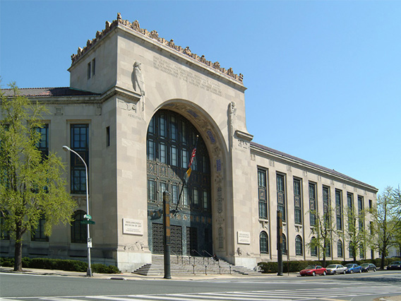 Exterior view of Perelman building