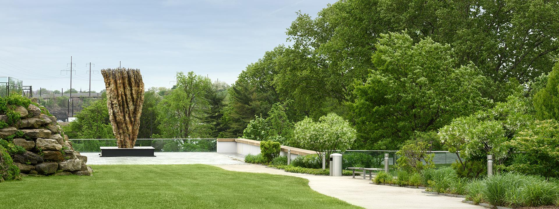 View of the Anne d'Harnoncourt Sculpture Garden