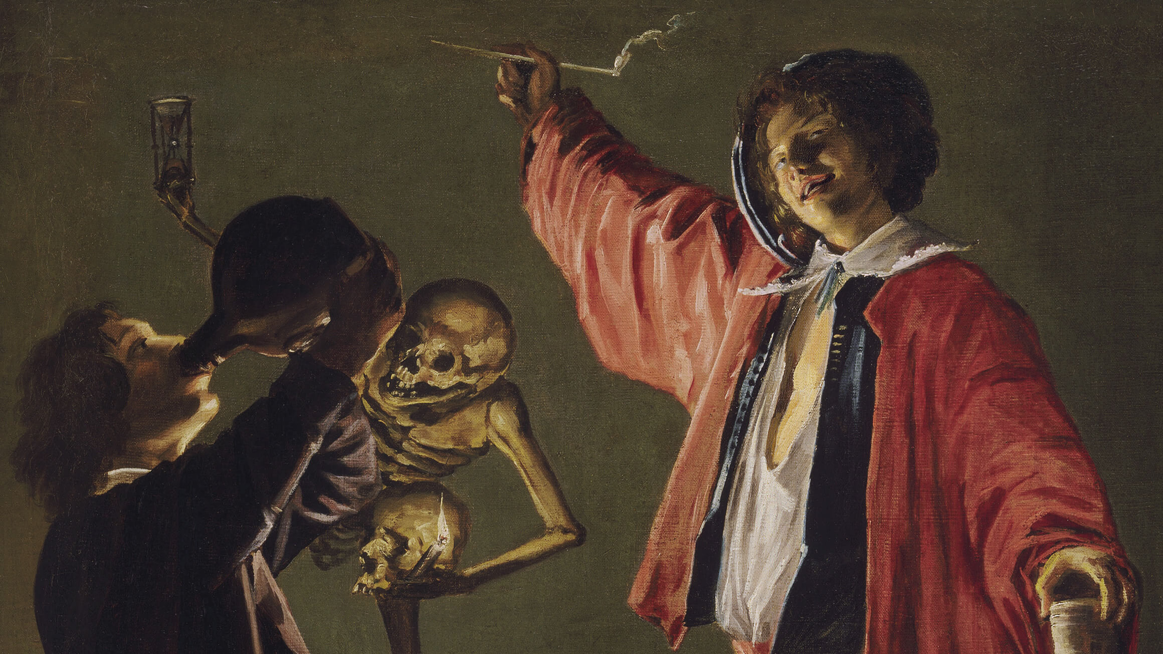 The Last Drop (The Gay Cavalier) (detail), c. 1629, by Judith Leyster (Dutch, 1609–1660), Cat. 440