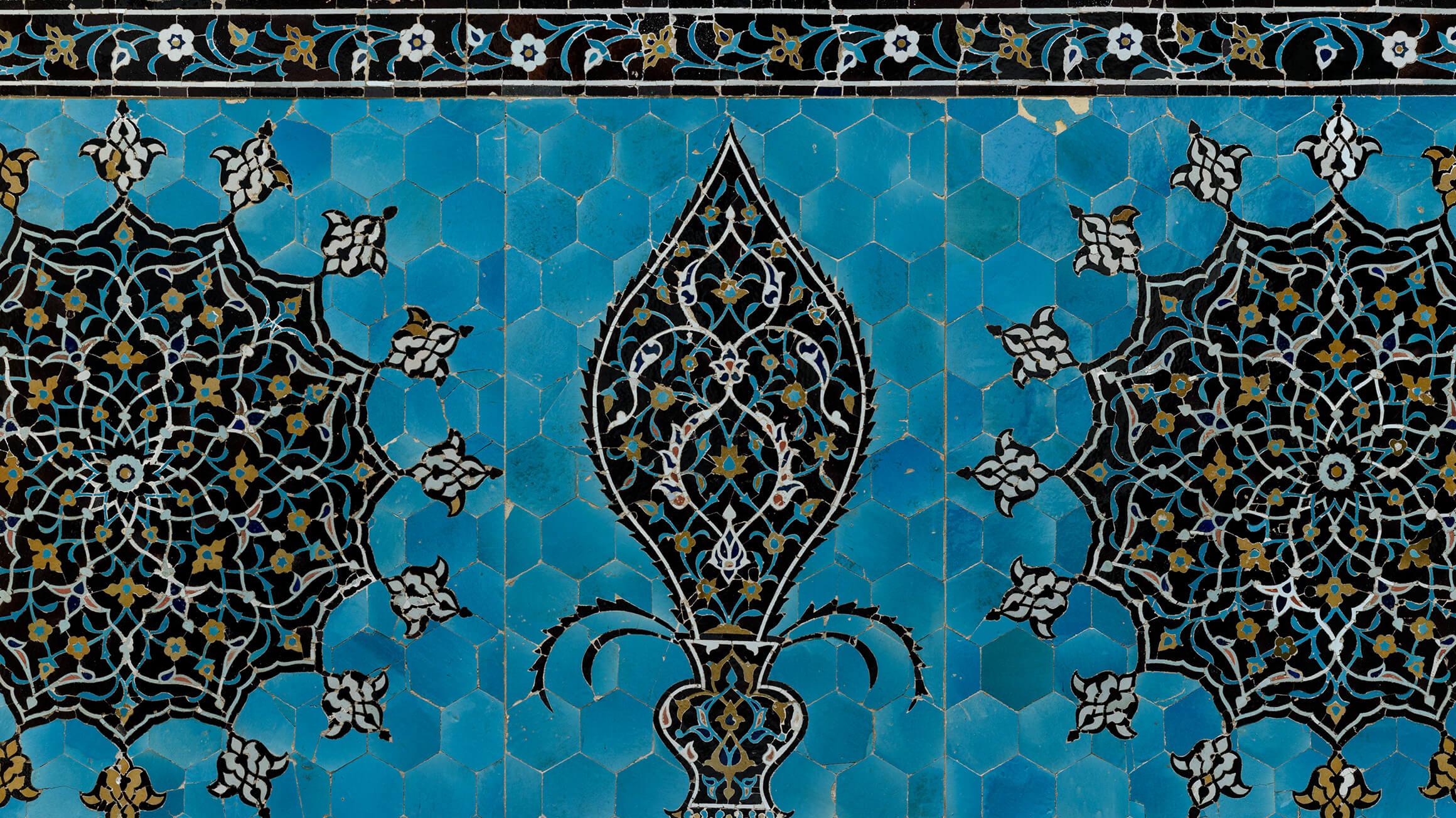 Tile Mosaic Panel, 16th century, made in Iran, 1931-76-1