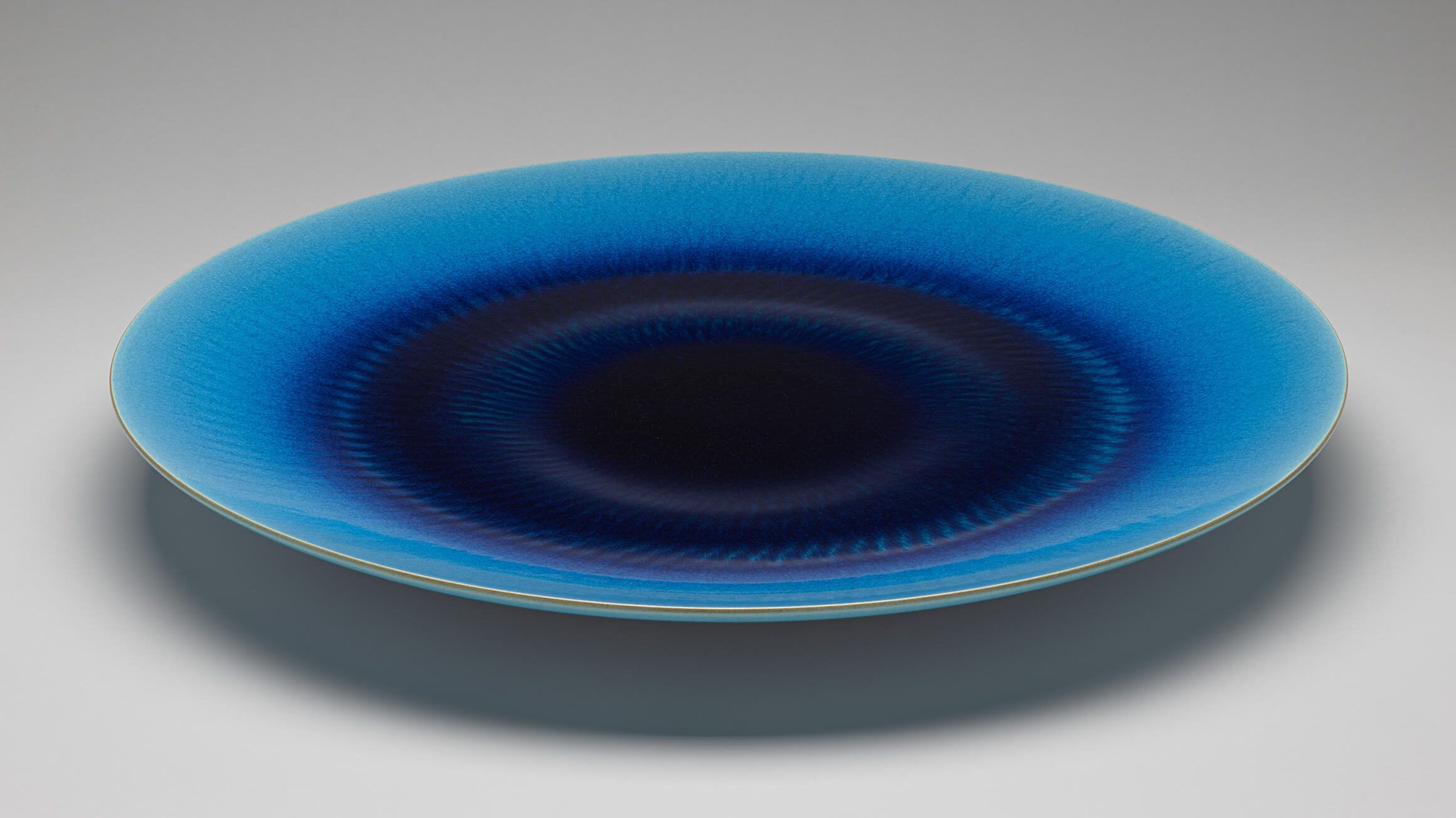Vessel with Blue Glaze, 2013, by Kimura Yoshiro (Japanese, born 1946), 2018-37-1