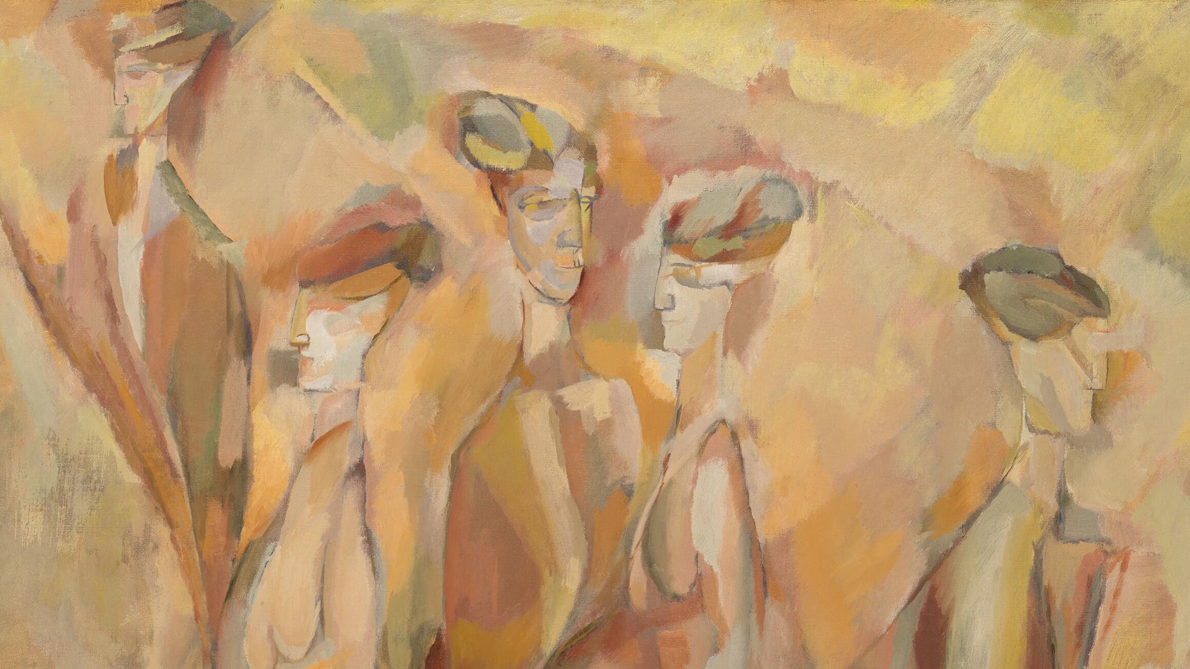 Portrait (Dulcinea) (detail), 1911, by Marcel Duchamp (American, born France, 1887–1968), 1950-134-54. © Artists Rights Society (ARS), New York / ADAGP, Paris / Succession Marcel Duchamp