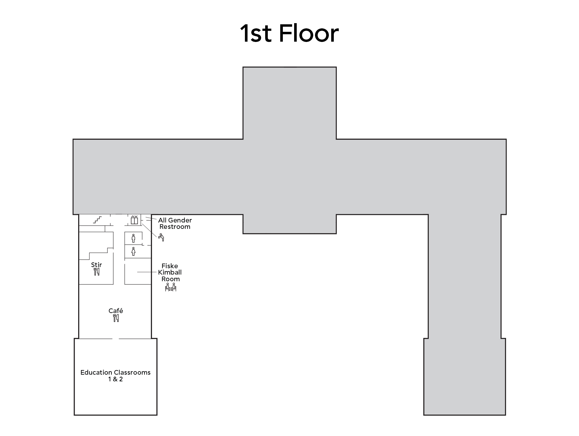 Map of main building first floor
