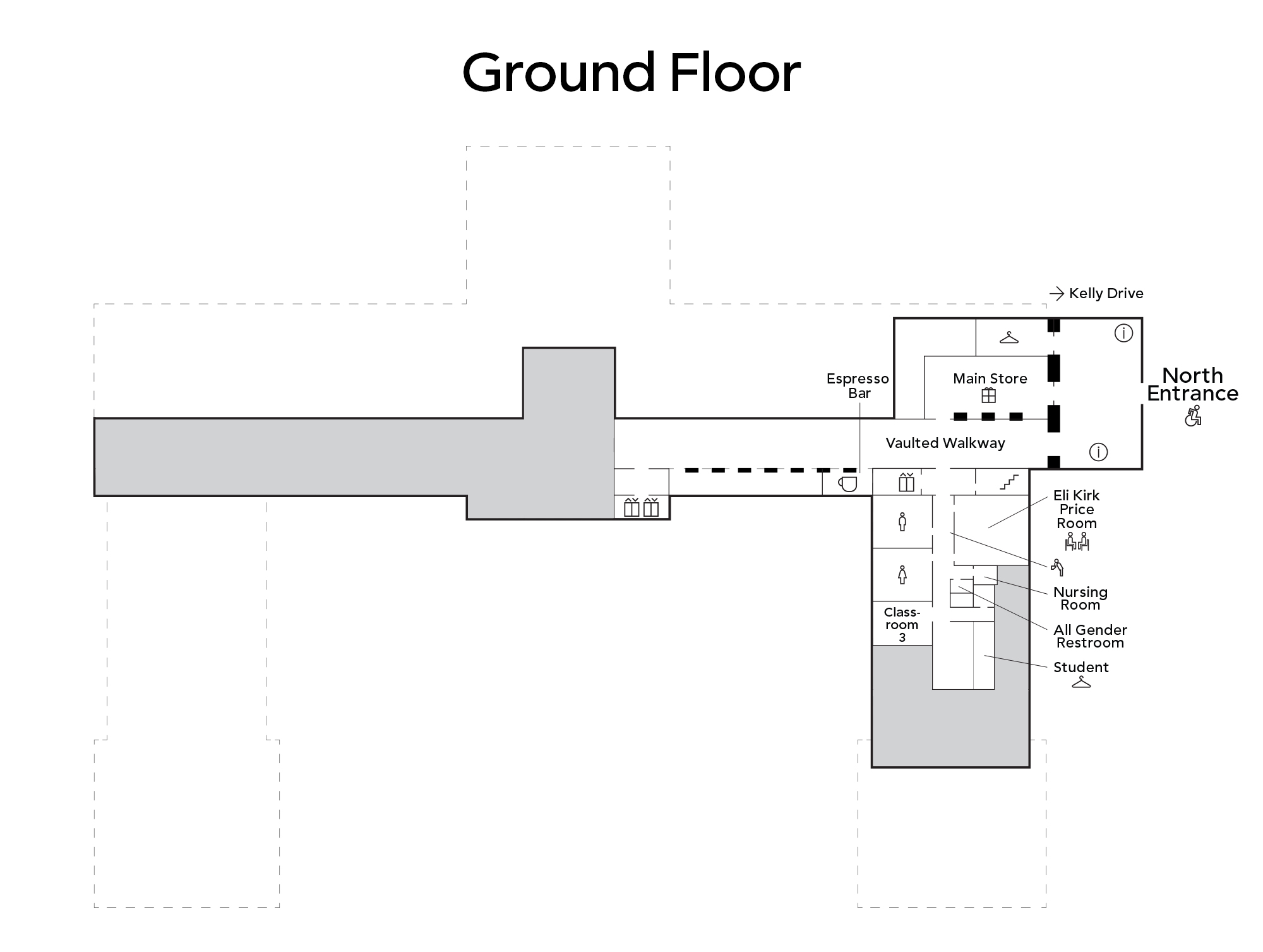 Map of main building ground floor