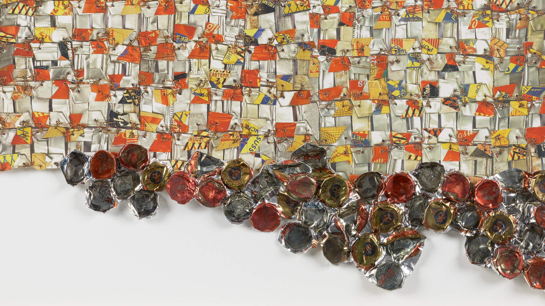 Paper and Gold (detail), 2017, by El Anatsui (Ghanaian, born 1944), 2018-48-1. © El Anatsui. Courtesy of the artist and Jack Shainman Gallery, New York