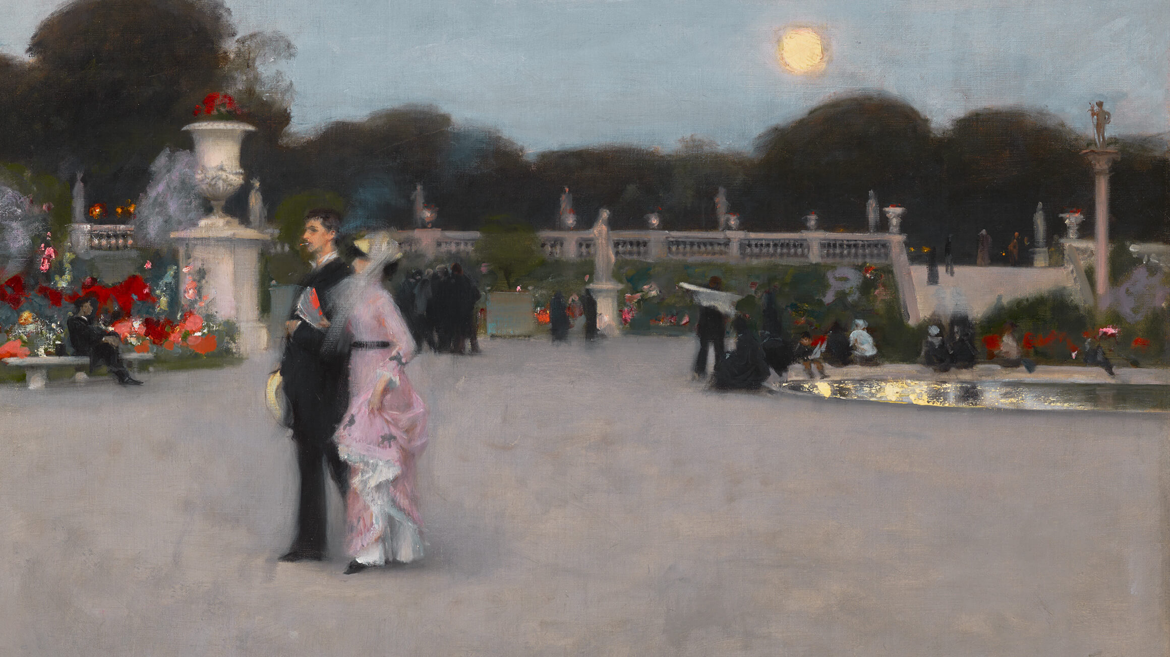 In the Luxembourg Gardens (detail), 1879, by John Singer Sargent (American, 1856–1925)