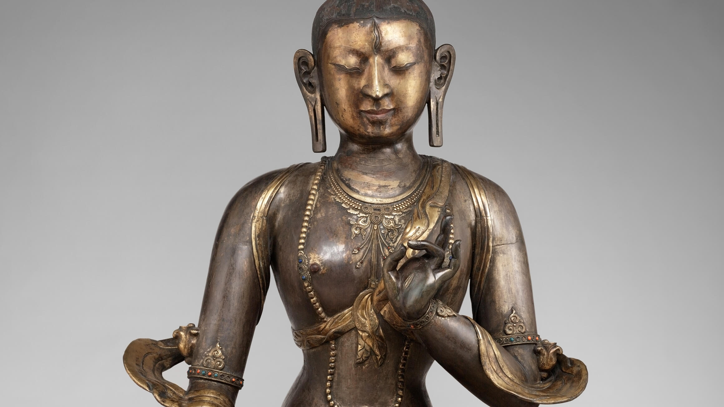 Tara, Goddess of Compassion (detail), 18th–19th century, made in Inner Mongolia