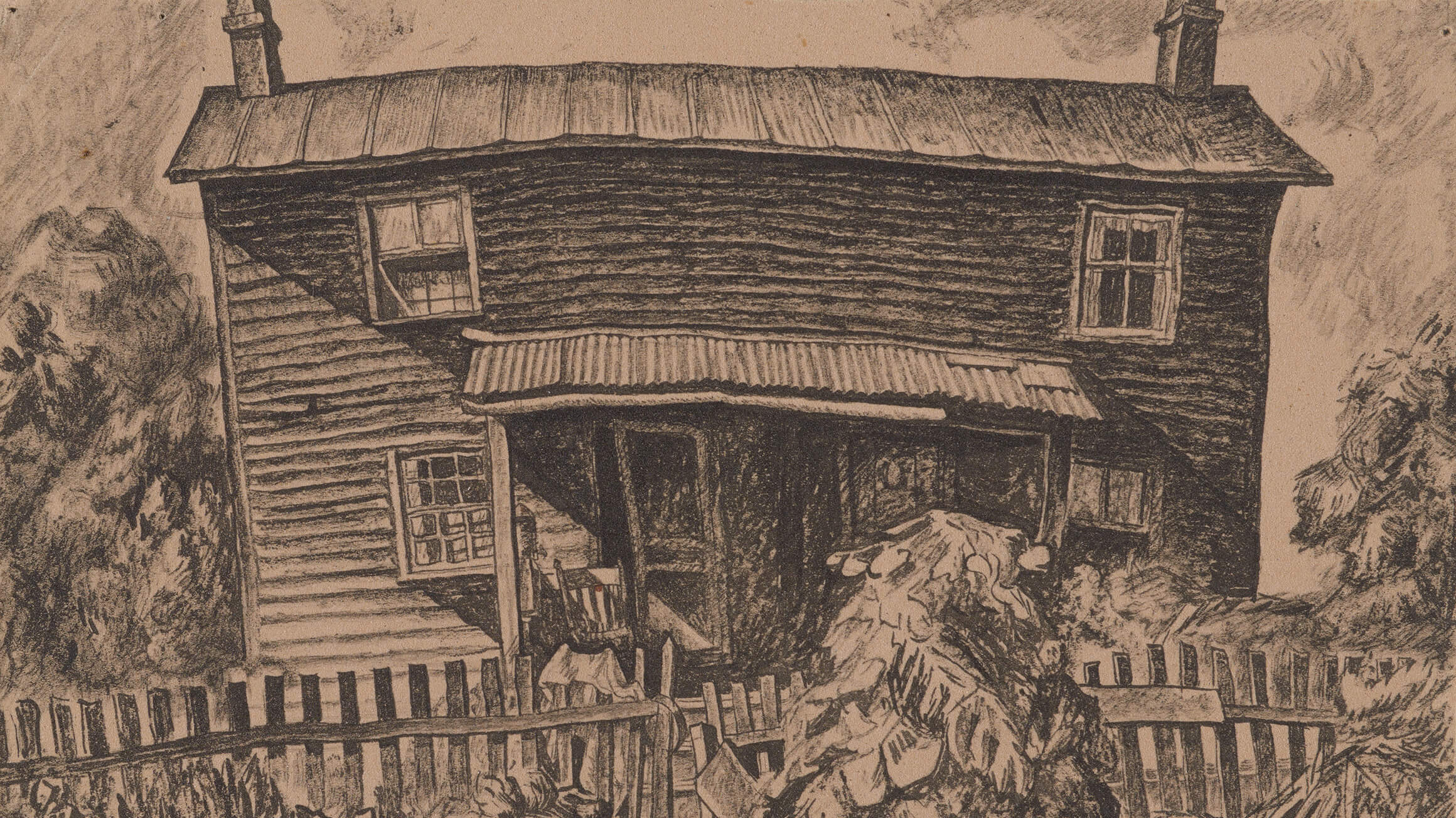 Tumble Timbers (study drawing) (detail), c. 1925–26, by Wanda Gág