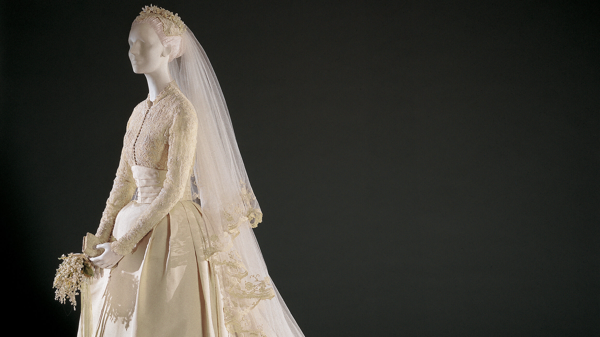 Grace Kelly's Wedding Dress and Accessories (detail), 1956, designed by Helen Rose