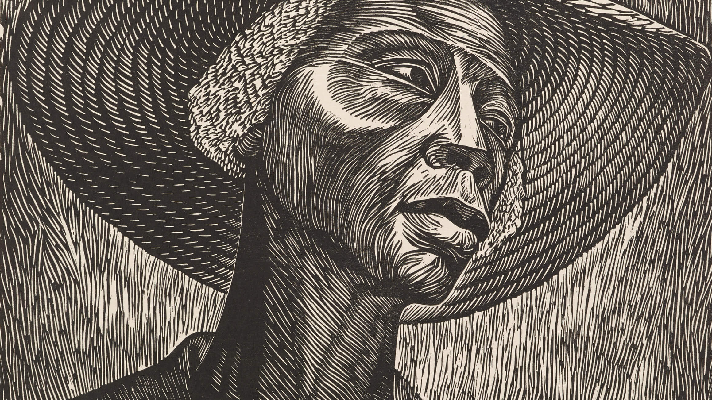 Sharecropper, 1952, by Elizabeth Catlett