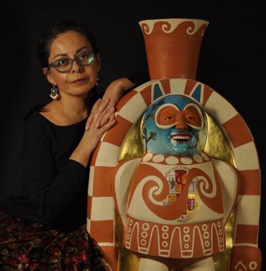 Portrait of artist Kukuli Velarde