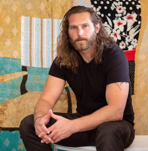 Portrait of artist Jesse Krimes