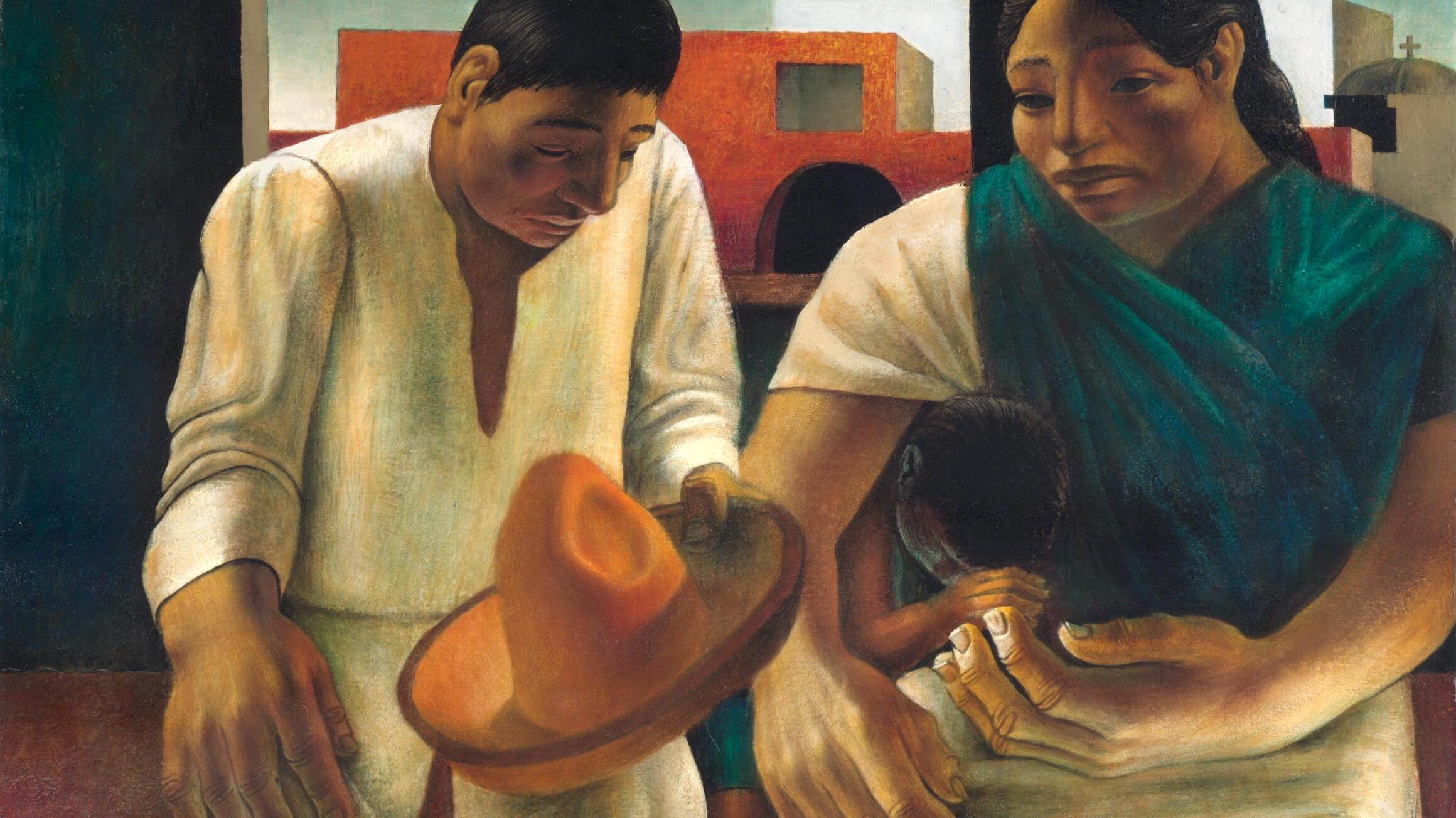 Campesinos (Peasants) (detail), 1952, by John Woodrow Wilson