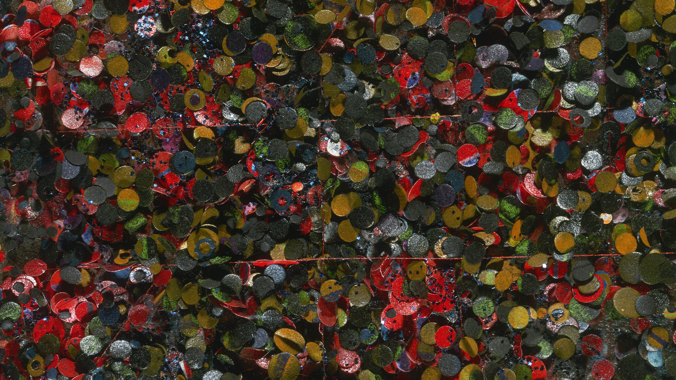Untitled No. 89 (detail), 1977, by Howardena Pindell