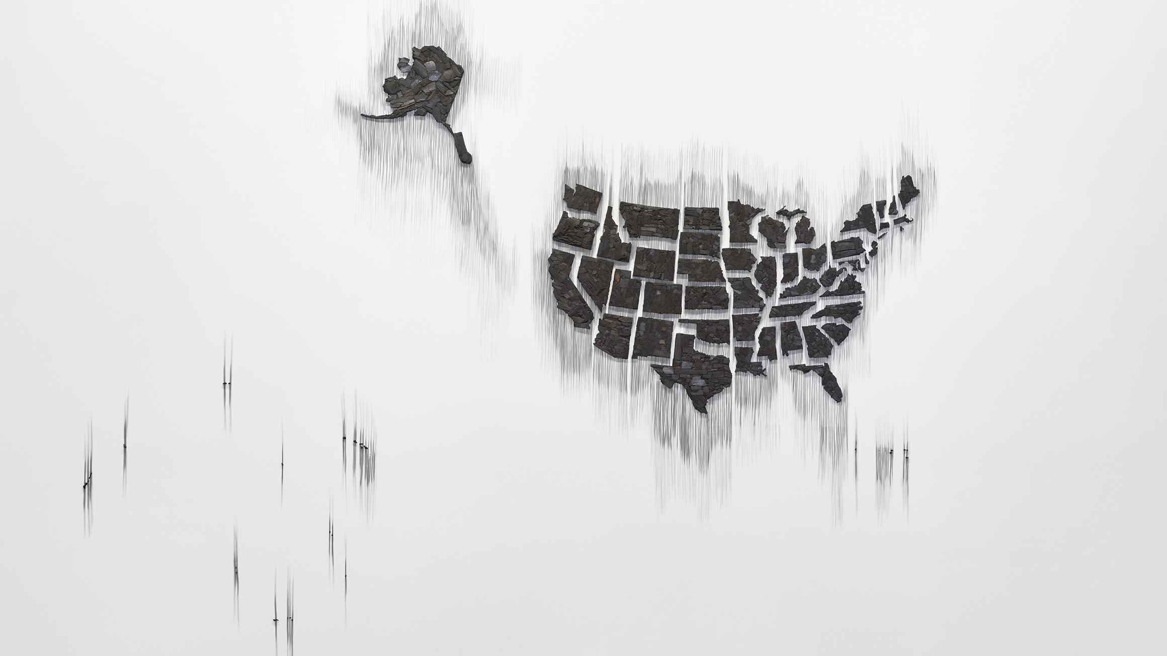 Fire (United States of the Americas), 2017/2020, by Teresita Fernández