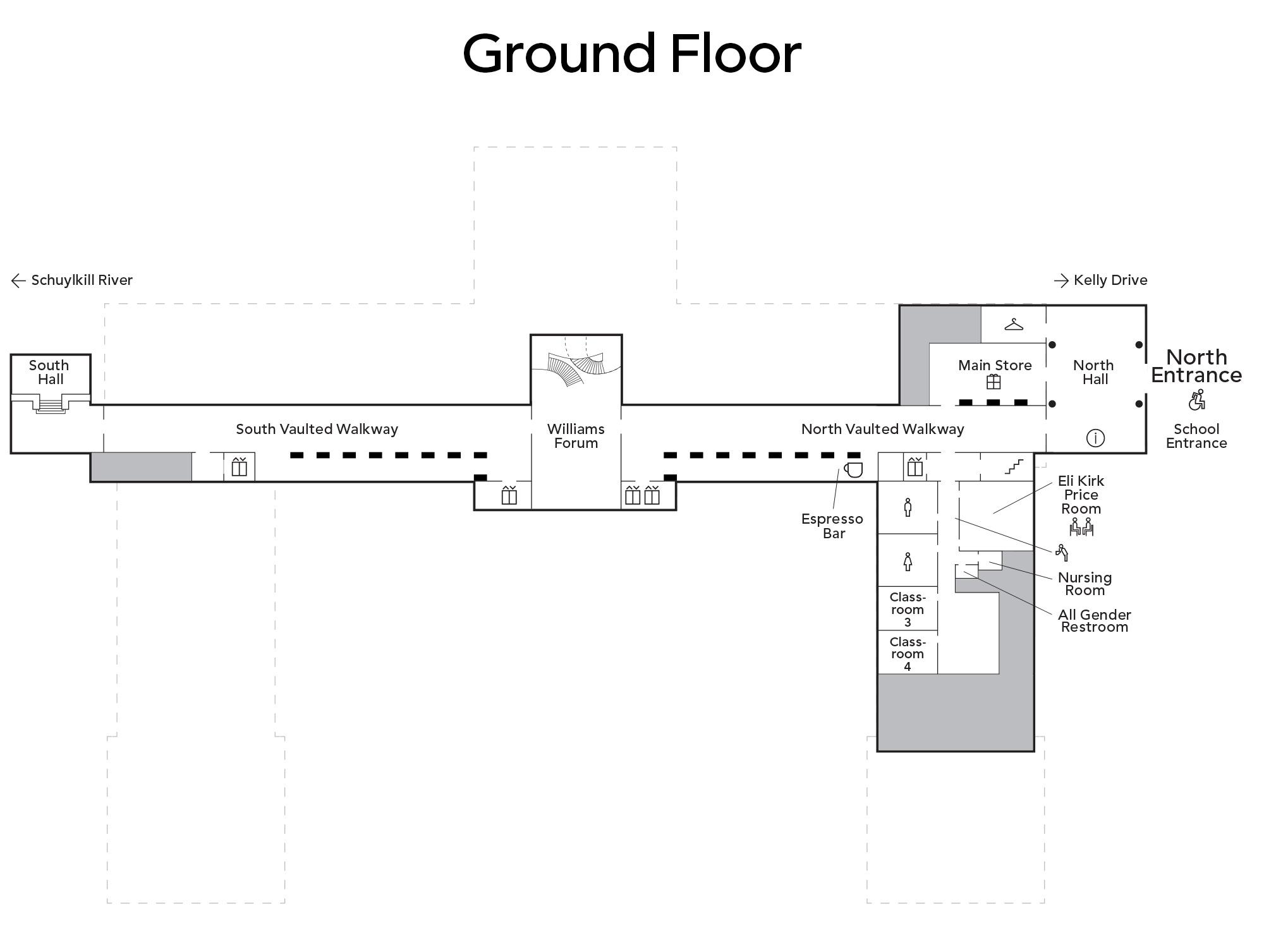 Map of main building ground floor