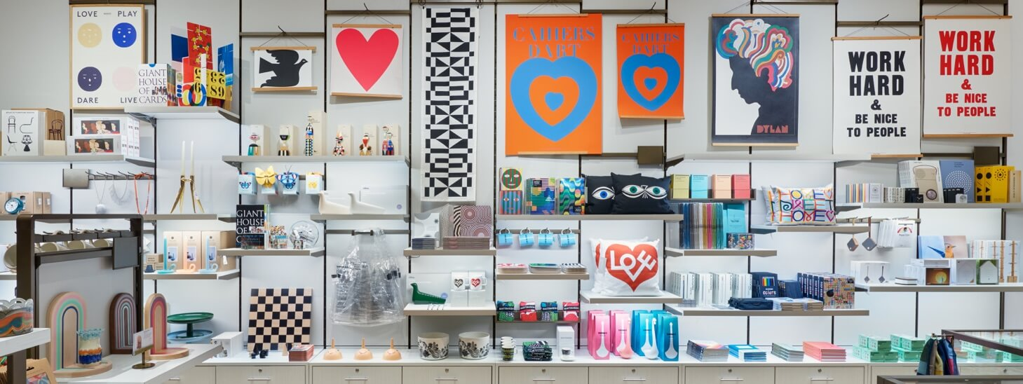 View of contemporary design products at the Design Store