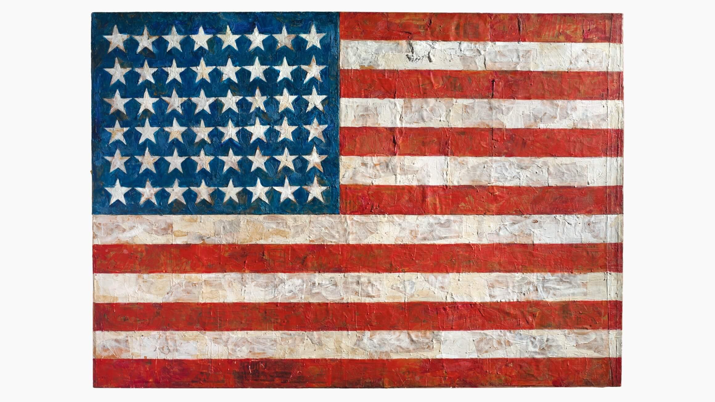 Flag, 1954–55, by Jasper Johns