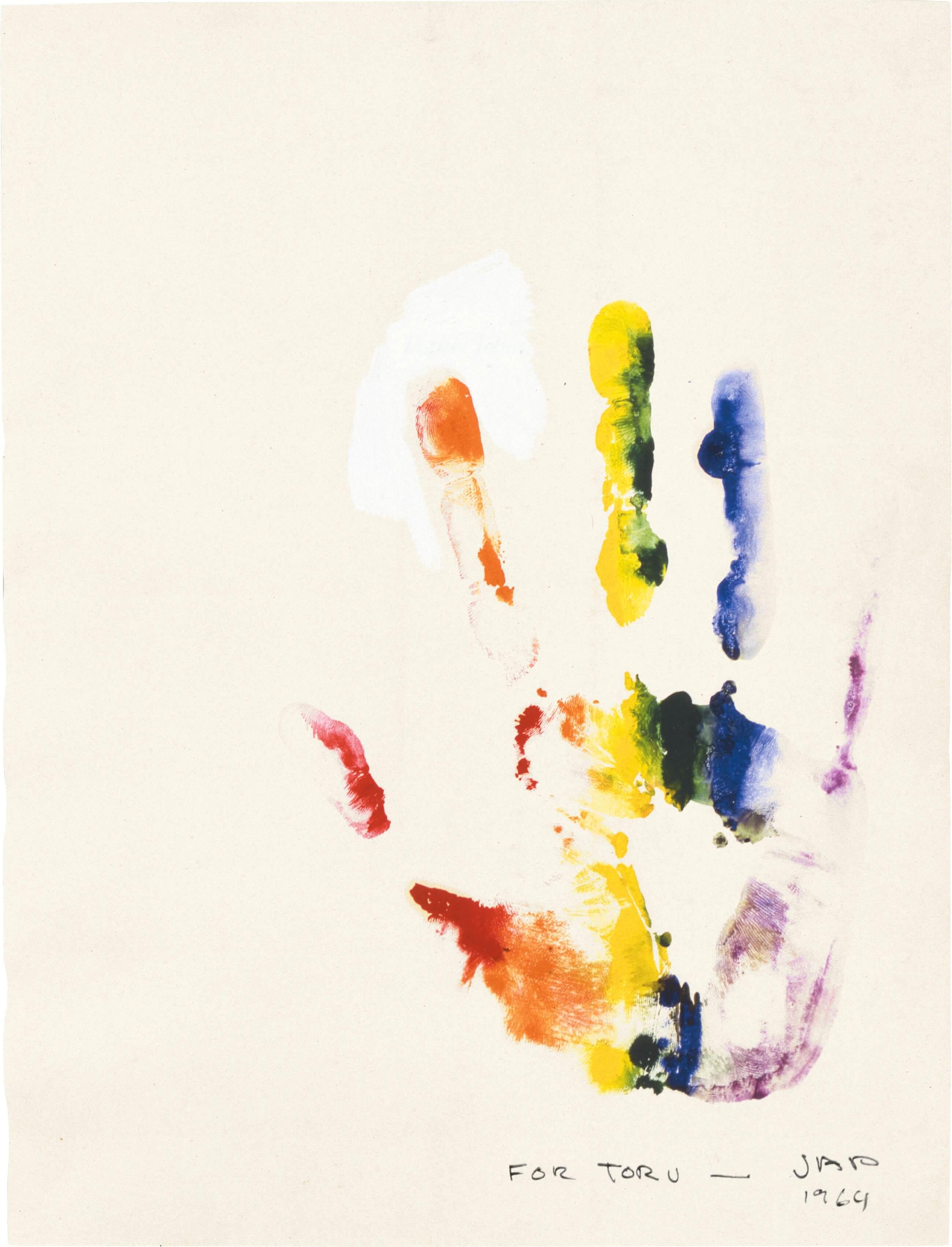 For Toru, 1964, by Jasper Johns