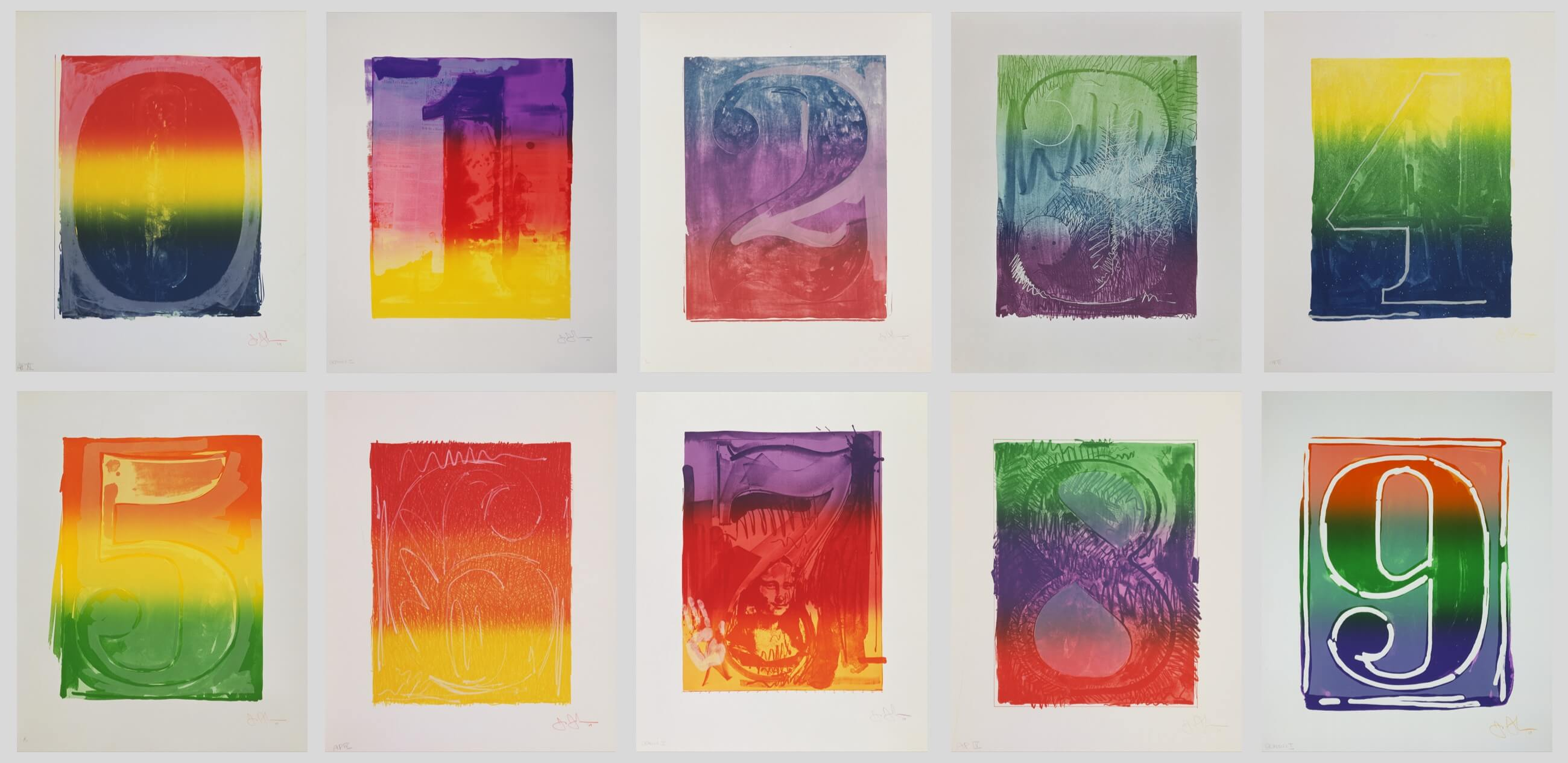 Figures 0–9, 1969, by Jasper Johns