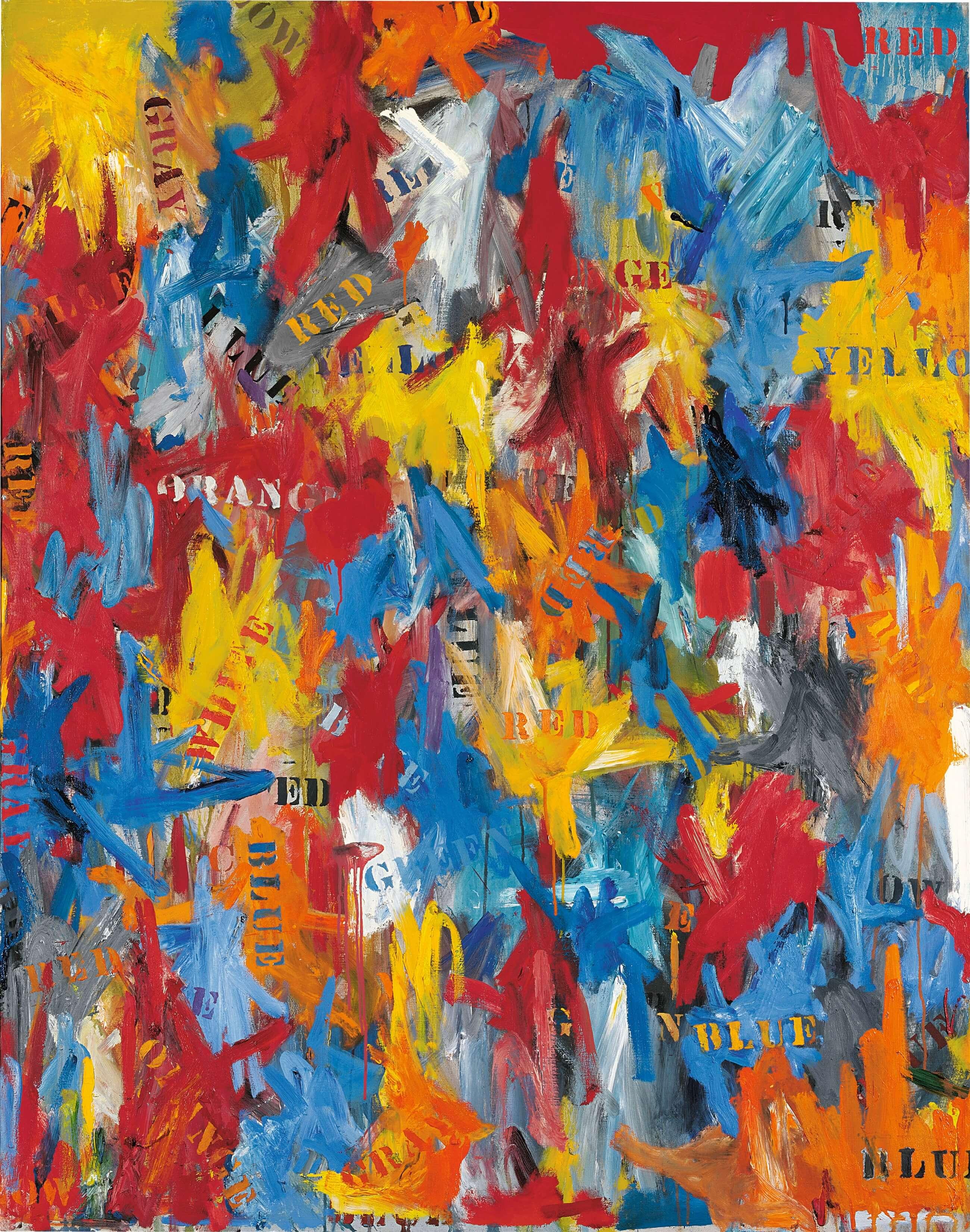 False Start, 1959, by Jasper Johns