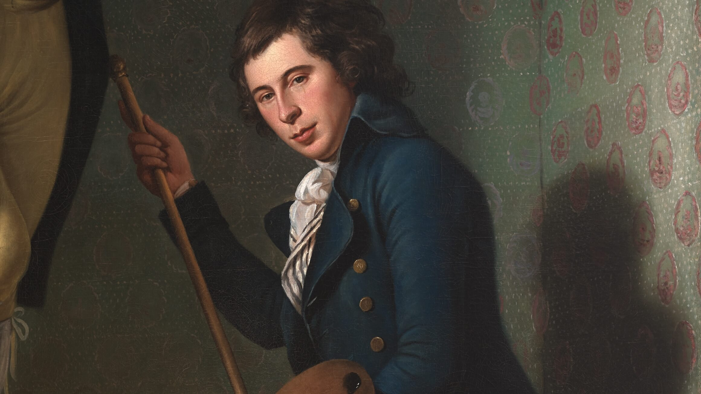 Staircase Group (Portrait of Raphaelle Peale and Titian Ramsay Peale I) (detail), 1795, by Charles Willson Peale