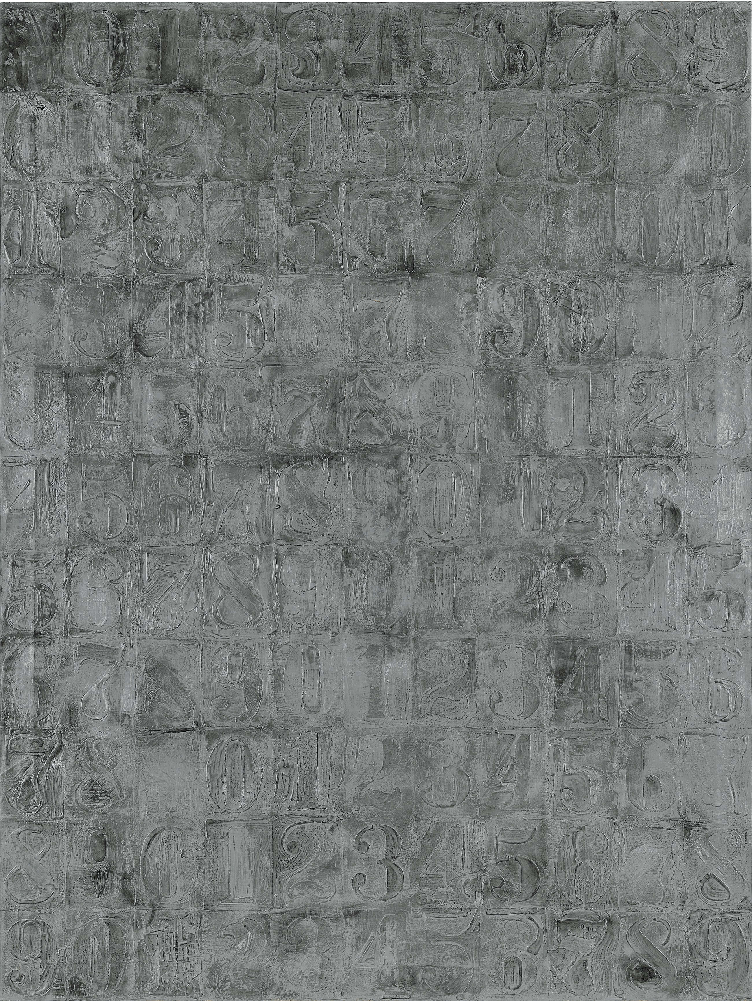 Numbers, 1963, by Jasper Johns