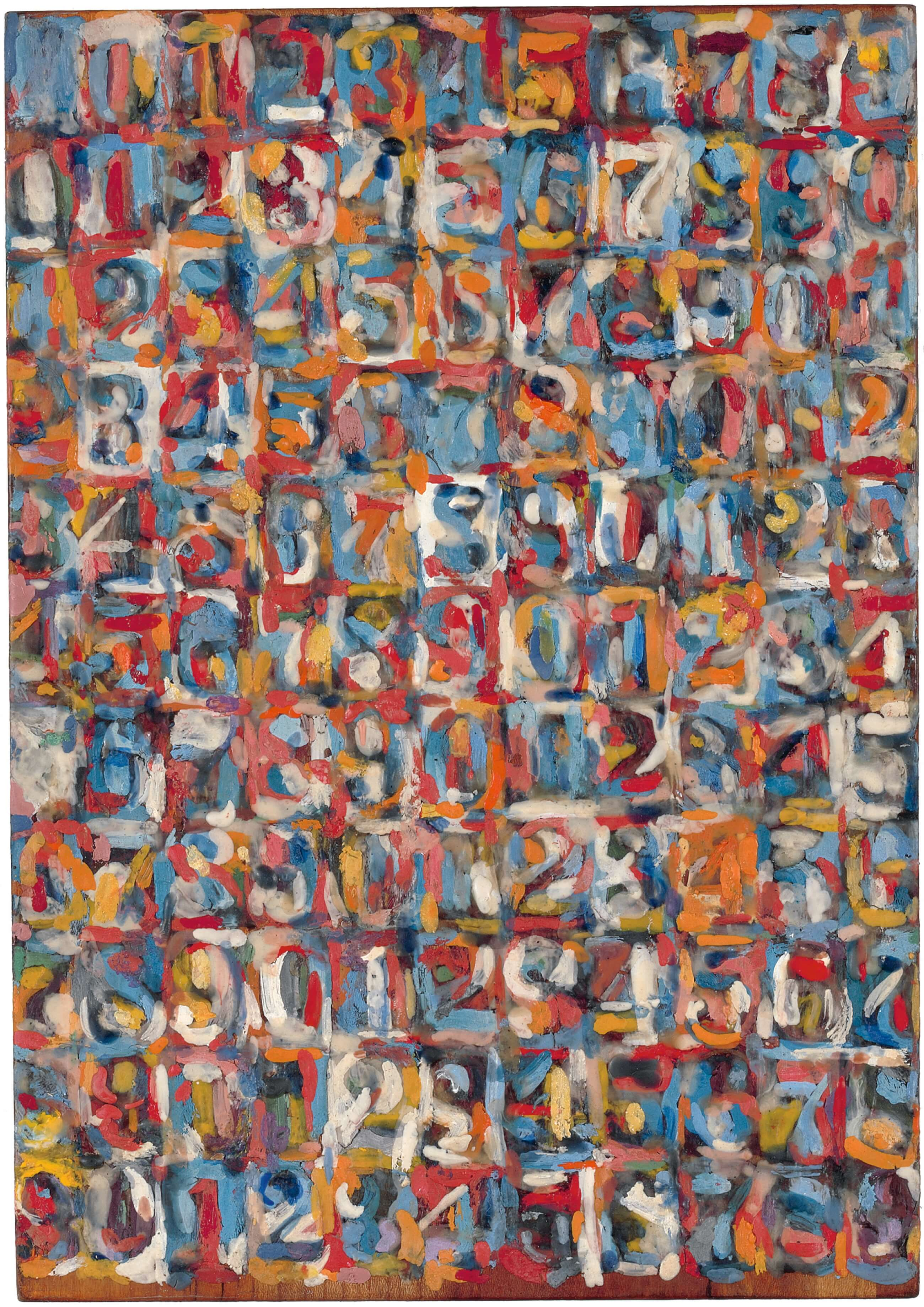 Small Numbers in Color, 1959, by Jasper Johns