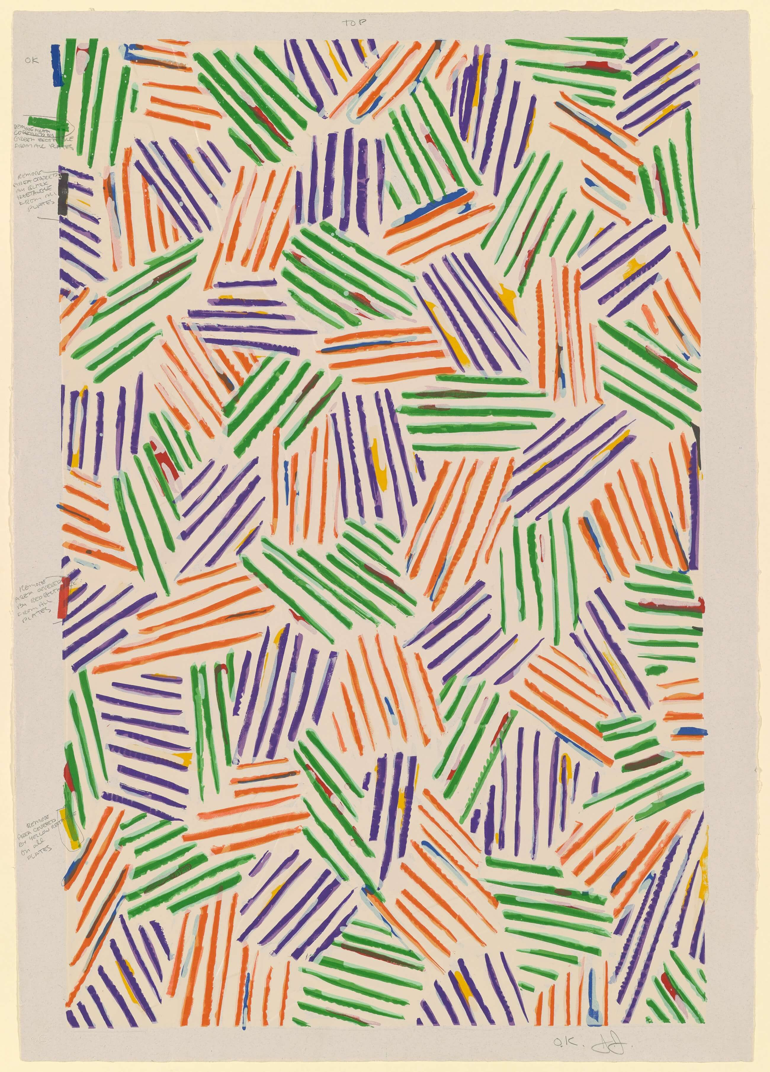 """A Panel from """"Untitled 1972,"""" 1973, by Jasper Johns"""