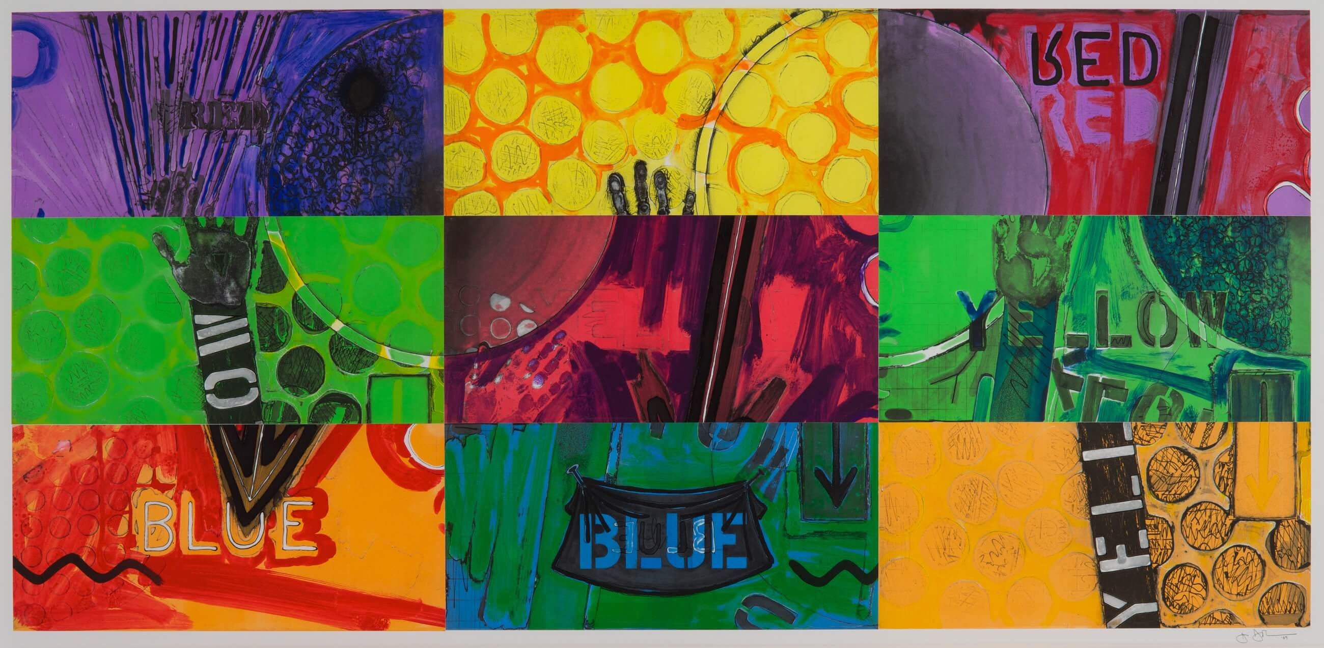 Untitled, 2014, by Jasper Johns